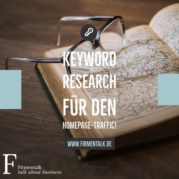 Keyword Research für den Homepage-Traffic!